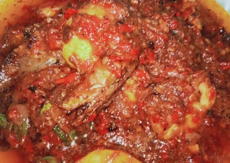 Resep: Goreng sarden campur kentang dan daun singkong enak