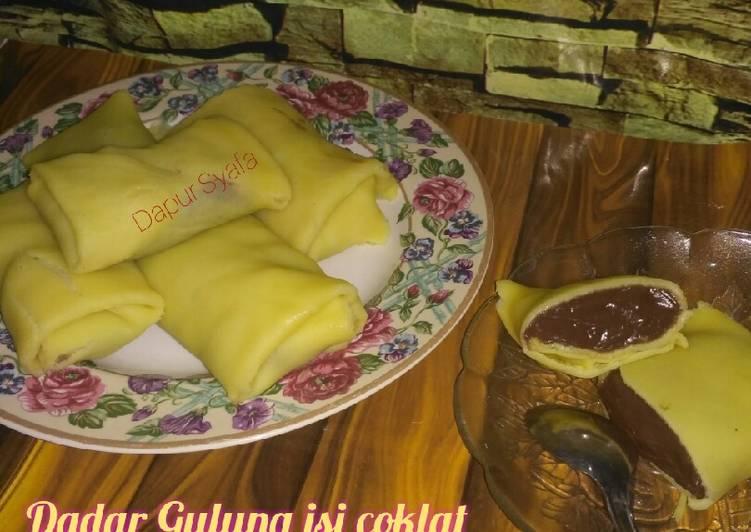 Resep: Dadar Gulung isi coklat yang menggugah selera