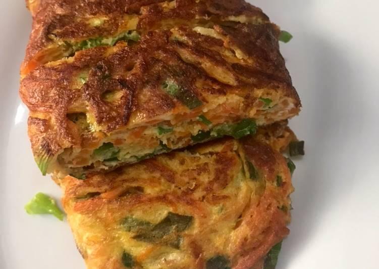 Cara Mudah memasak Telor sayur dadar gulung lezat