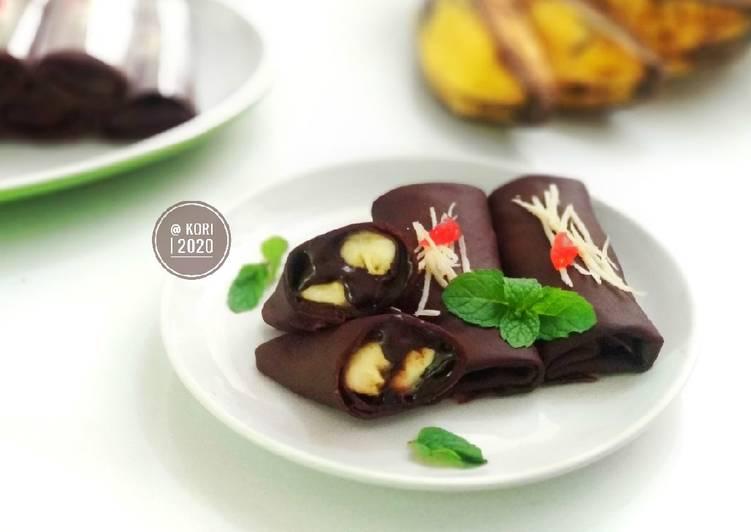 Dadar Gulung Coklat Pisang