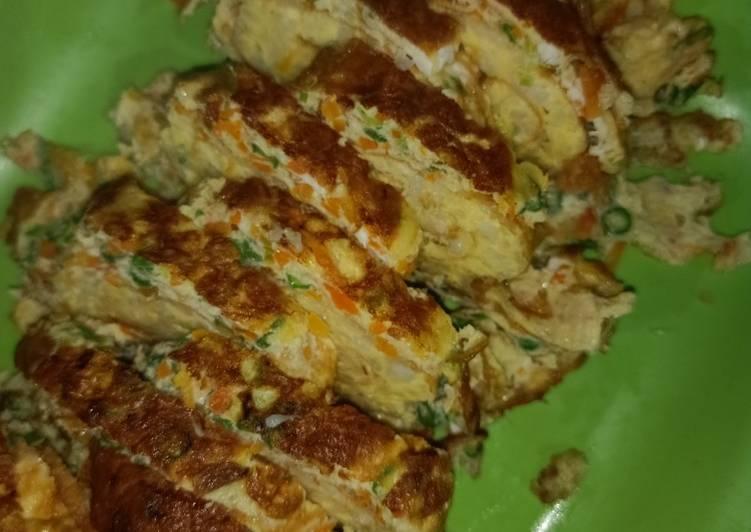 Resep memasak Naslor Dadar gulung (nasi telor alaa² rumahan) yang bikin ketagihan