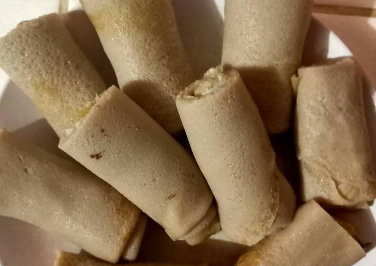 Cara Mudah membuat Dadar gulung pisang Fla durian yang menggugah selera
