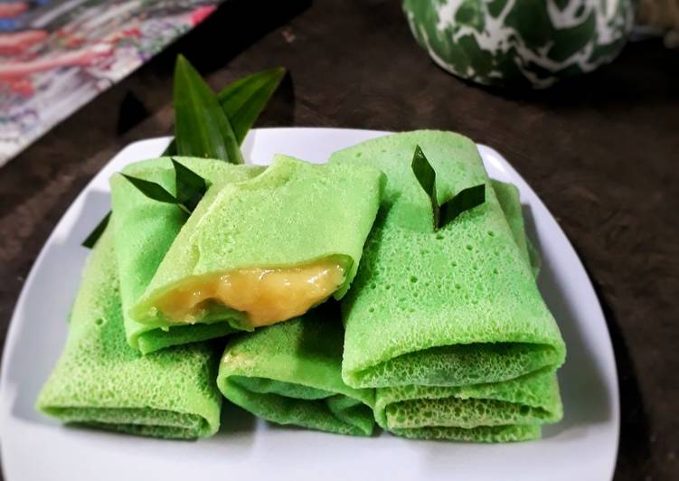 Resep: Dadar Gulung vla durian