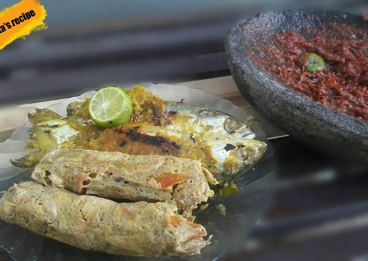 Resep membuat Pepes udang dan ikan kembung ala resto
