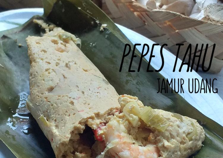 Cara mengolah Pepes 3 bahan (tahu,udang,jamur) ala resto