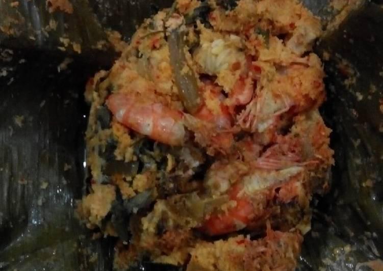 Resep: Pepes udang n tempe yummy enak