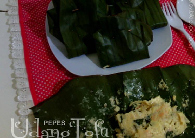Pepes Udang Tofu