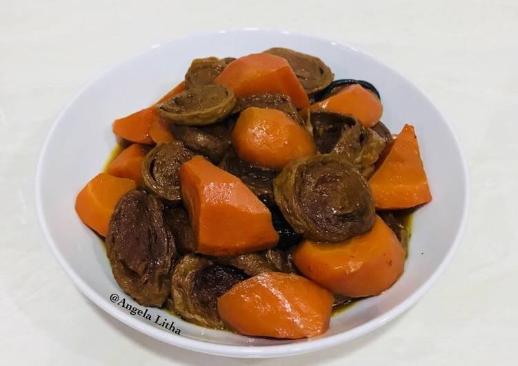Cara mengolah Pindang wortel dan jamur #vegetarian enak