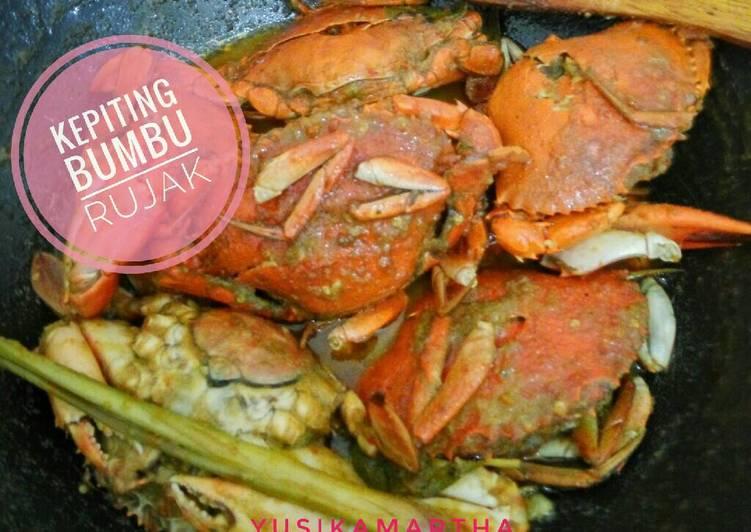 Cara memasak Kepiting bumbu rujak yang bikin ketagihan