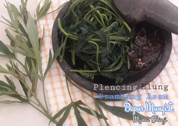 Resep: Plencing Elung (daun ubi) sambel brambang asem ala resto