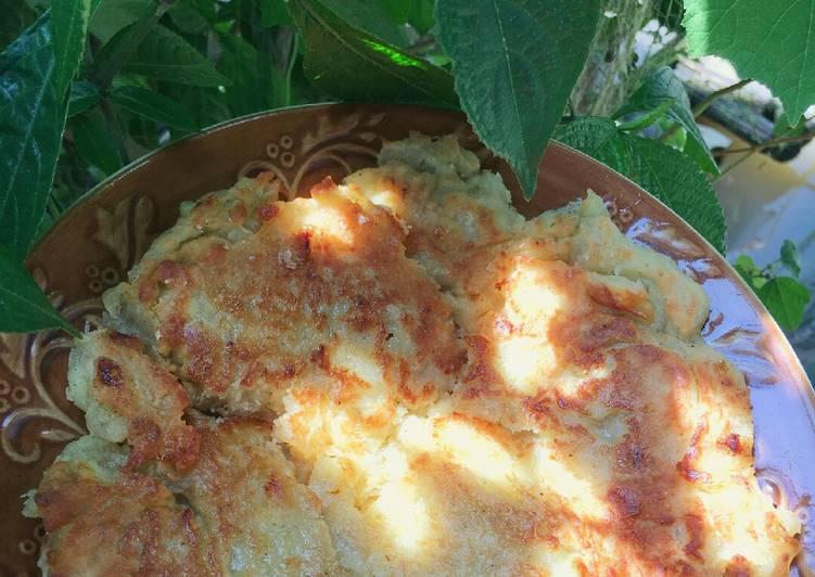 Cara memasak Lempeng Pisang gurih (dadar pisang) ala resto