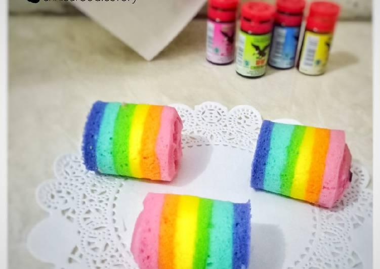 Bolu Gulung Mini Rainbow