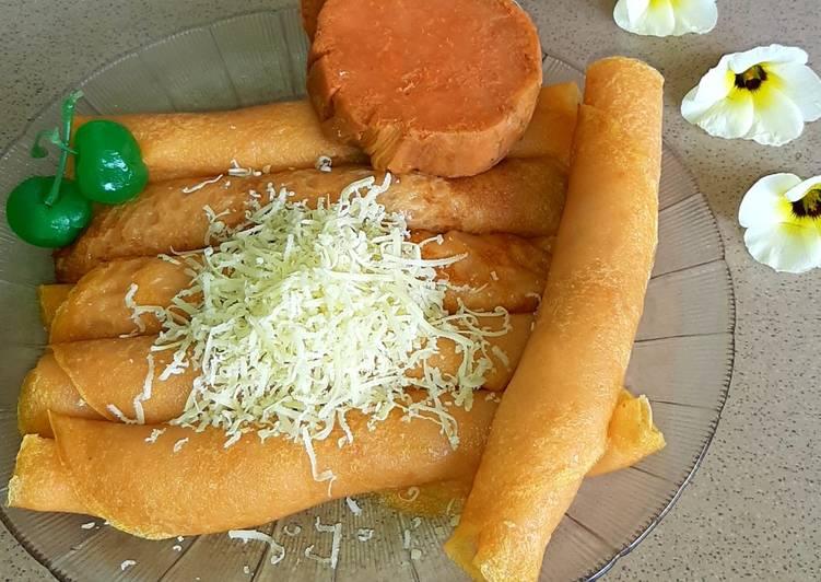 Lempeng Gembili / Pancake Ubi Orange