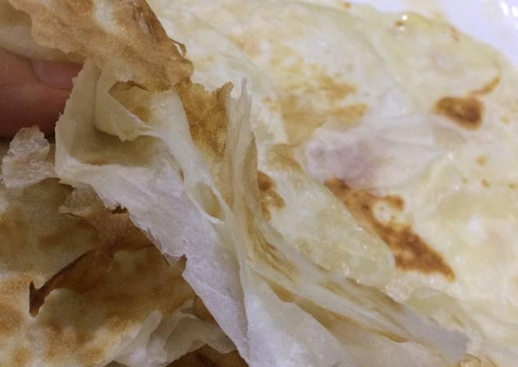Cara memasak Roti Thawah a.k.a Paratha (Canai simple) istimewa
