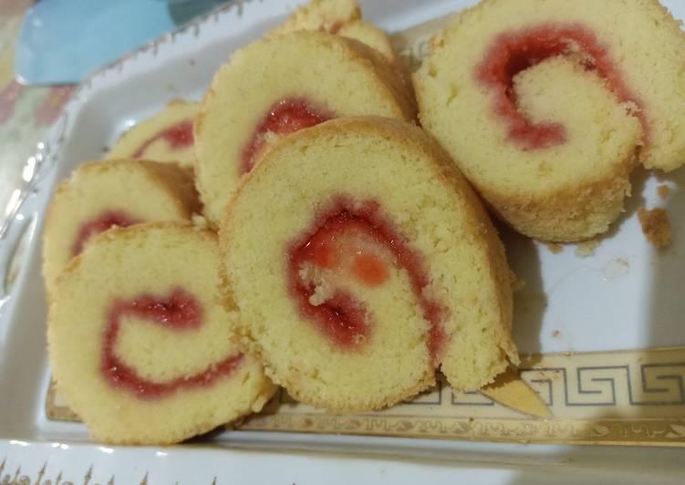 Resep memasak Bolu Gulung tanpa sp/bp happycall lezat