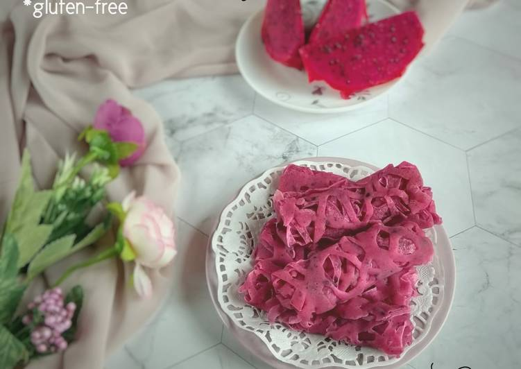43.1~ Roti Jala Buah Naga *gluten-free