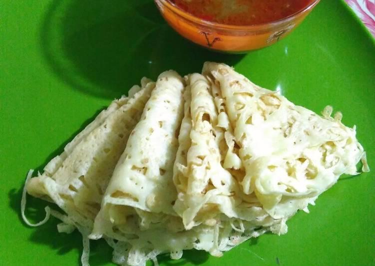 Cara membuat Roti Jala ala resto