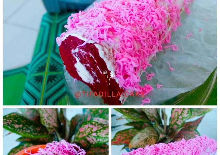 Cara memasak Bolu gulung redvelvet yang menggoyang lidah