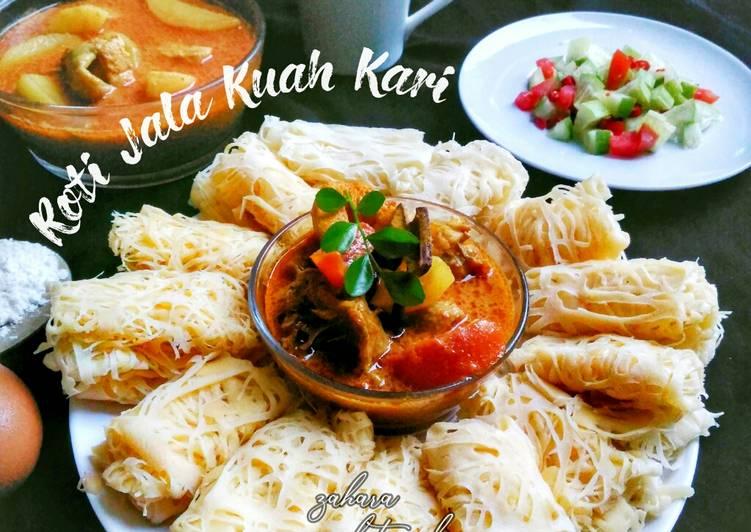 Roti Jala Kuah Kari
