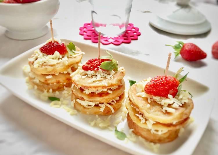 Resep: Pancake mini pisang, tanpa telur, tanpa BP a.k.a Lempeng Pisang (#pr_egglesscake) lezat