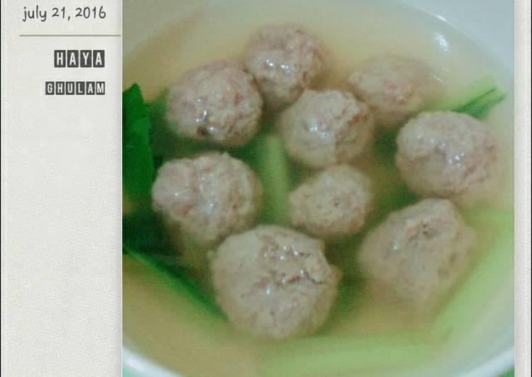 Cara memasak Bakso Daging Sapi yang menggugah selera