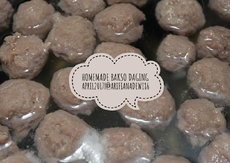 Resep memasak Homemade Bakso Daging yang menggugah selera
