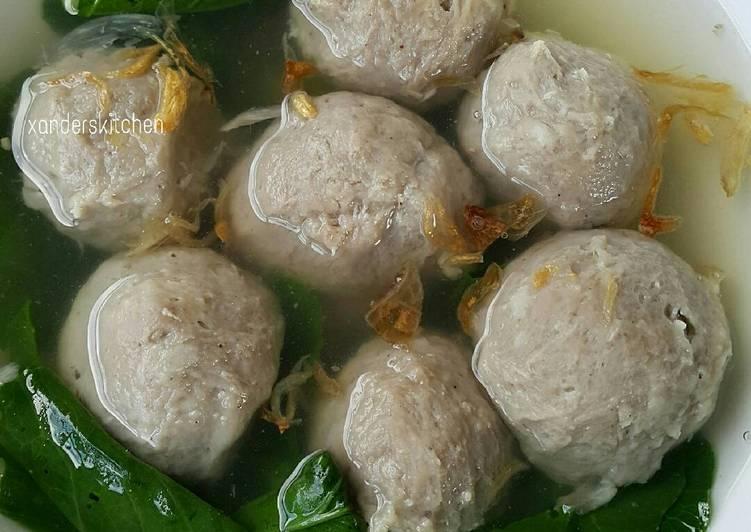 Cara mengolah Bakso Sapi...kenyal enak tanpa baking powder 😍👍 ala resto