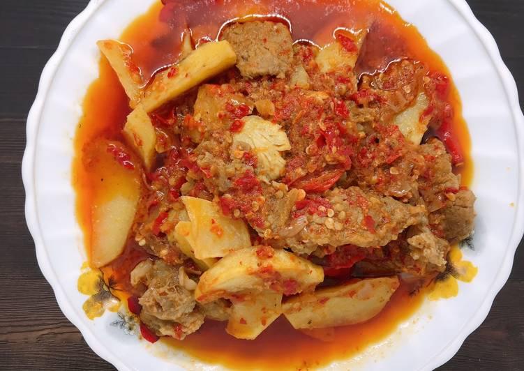 Resep memasak Dendeng Lambok X jengkol X kentang Minang istimewa