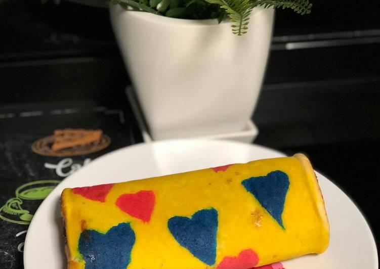 SWISS ROLL CAKE CHARACTER (BOLU GULUNG)