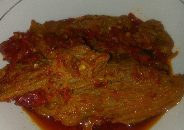 Resep membuat Dendeng Lambok #kulinerMinang ala resto