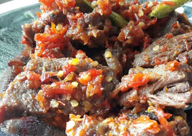 Cara memasak Dendeng lambok lado merah ala resto