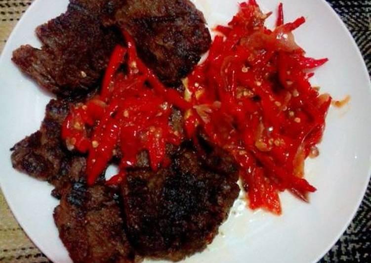 Resep: Dendeng Lambok Balado ala resto