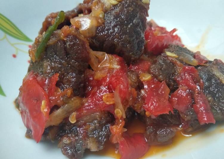 Cara Mudah mengolah Dendeng lambok/Dendeng Basah resep Xander's Kitchen
