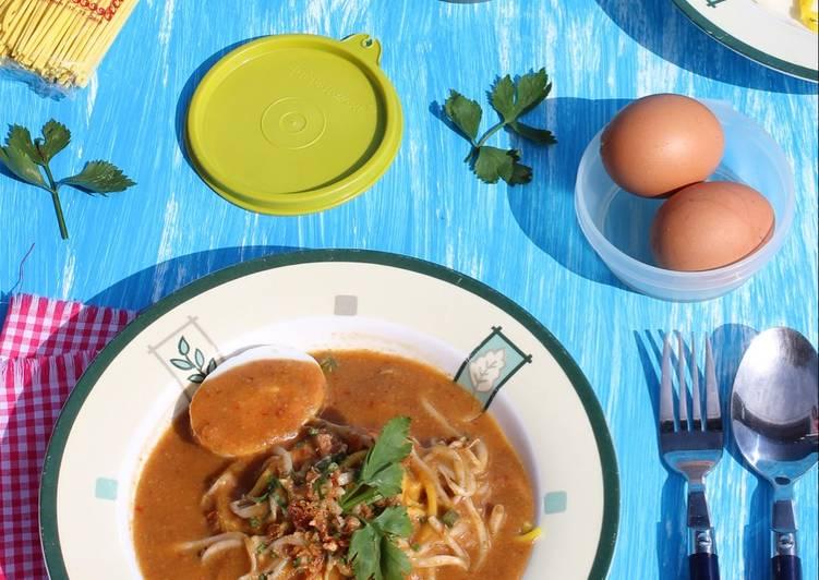 Cara Mudah membuat Mie Lendir khas Belakang Padang (mie rebus) istimewa