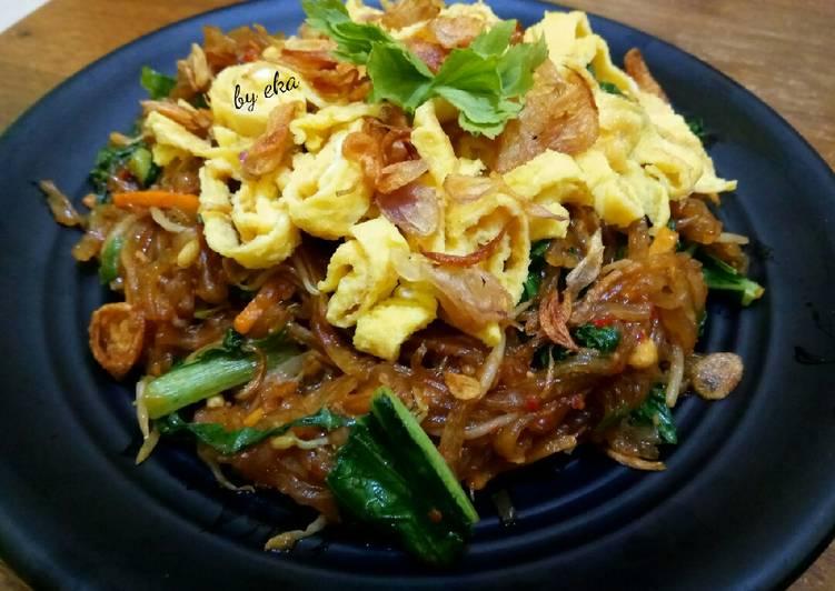 Resep: Mie Sagu versi vegetarian 😅 yang menggugah selera
