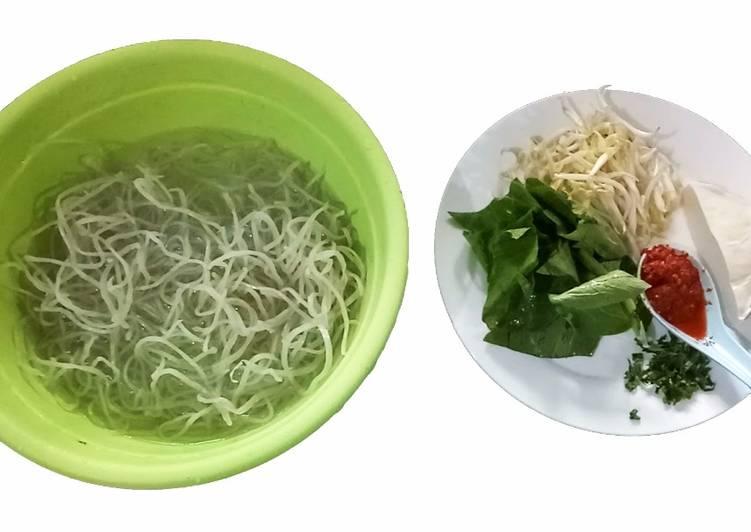 Cara Mudah memasak Mie sagu goreng vegan ala resto