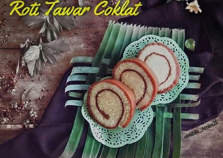 Cara memasak Bolu Gulung roti Tawar Coklat yang menggugah selera