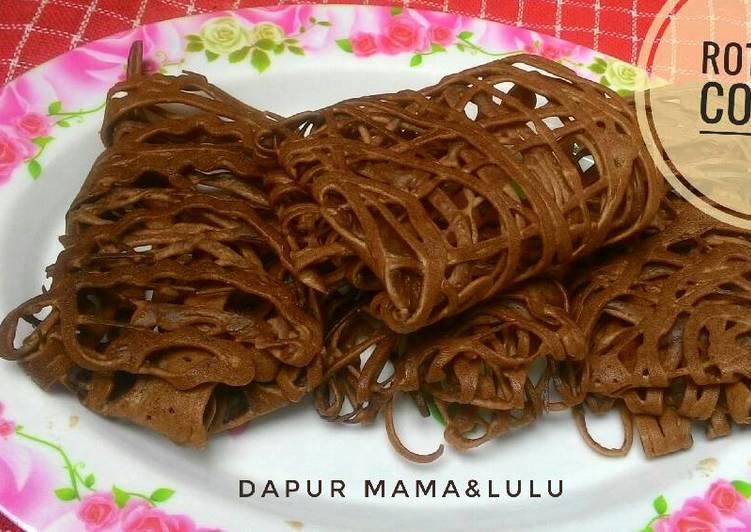 Resep mengolah Roti jala cokelat enak
