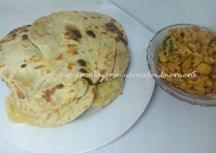 Resep: Prata/tamees +coel orek telur tempe pedas enak