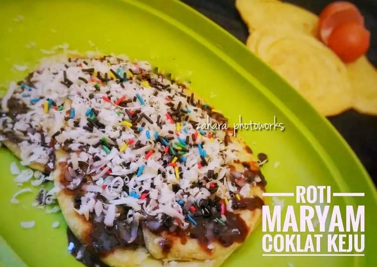 Resep memasak Roti Maryam Coklat Keju (Roti Cane/Prata) yang menggugah selera