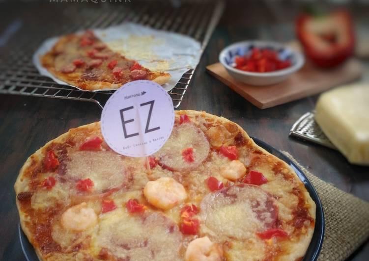 Resep: Prata bread cheese pizza lezat