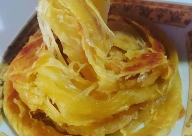 Resep: Roti maryam aka roti canai enak lembut enak