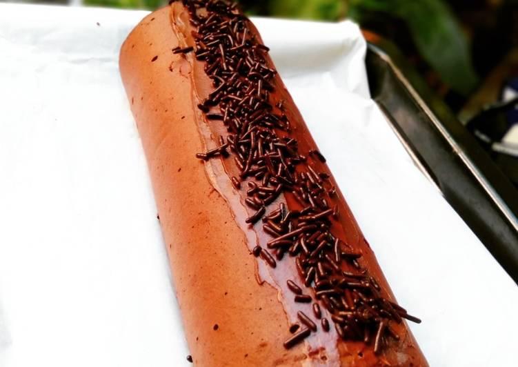 Bolu Gulung Coklat Kukus