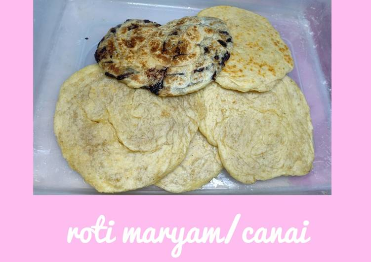 Resep: Roti maryam/canai OAT(gandum) empuk, berserat frozen (no mixer) lezat