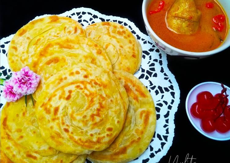 Resep: Roti Maryam (Roti Cane, Paratha) ala resto