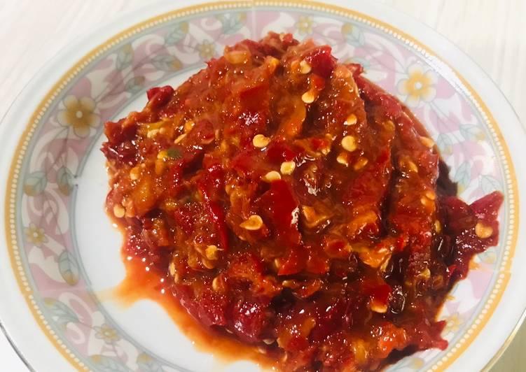 Cara memasak Sambal mangga istimewa