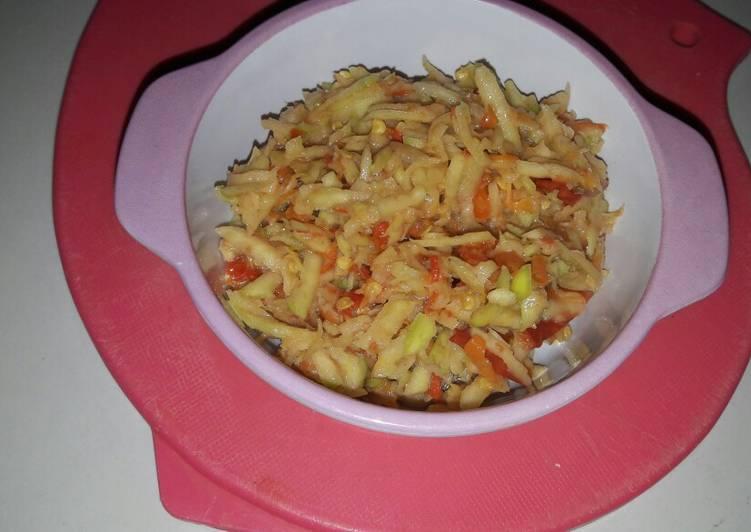 Cara Mudah mengolah Sambel pencit/ sambal mangga muda lezat
