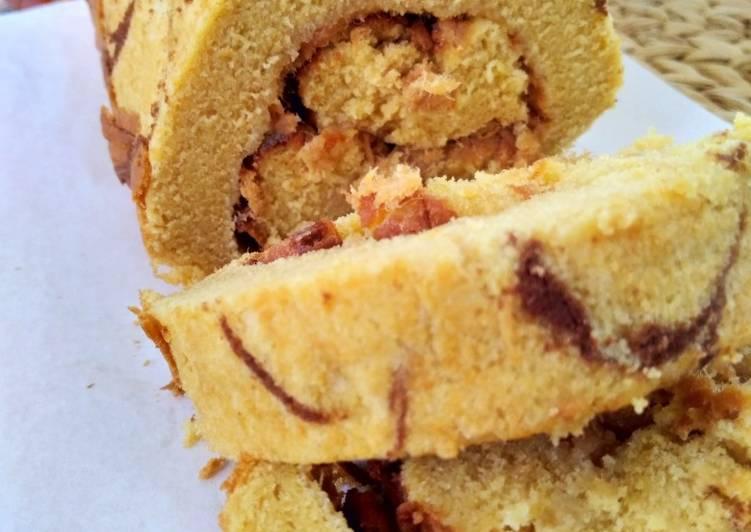 Resep: Bolu gulung batik [gluten free, refined sugar free] yang menggugah selera