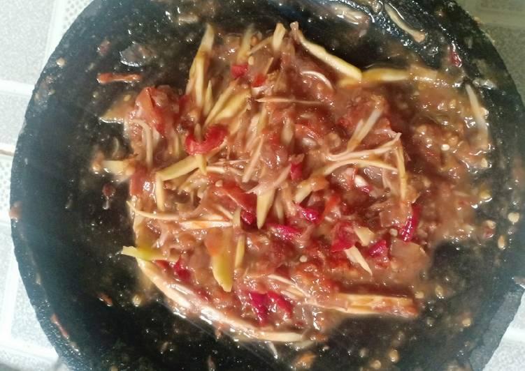 Cara Mudah memasak Sambel terasi mangga muda