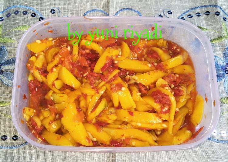 Resep: Sambal mangga khas Palembang enak